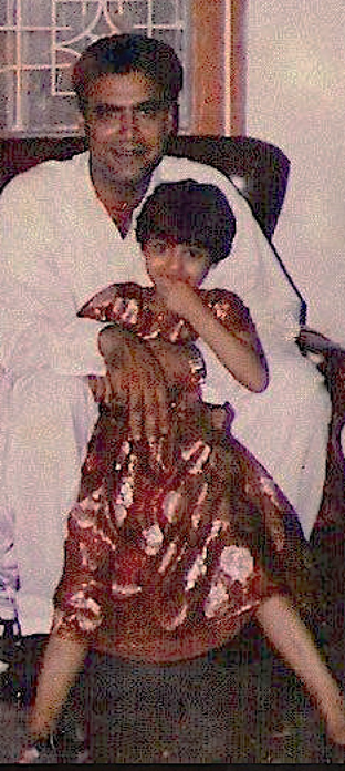 Photo: My father and I at a wedding in Pakistan