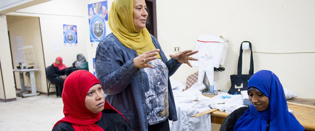 Reda Shukry, founder of Al-Shehab, participating in a job training session